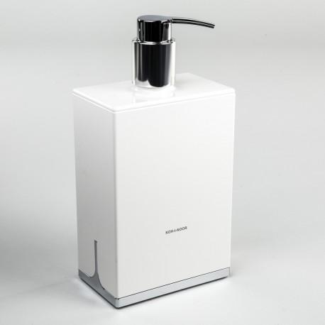 Dispenser sapone da appoggio Lem bianco.