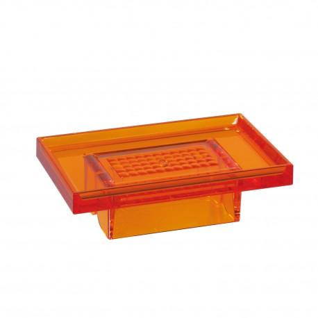 Porta sapone da muro Lem arancio trasparente.