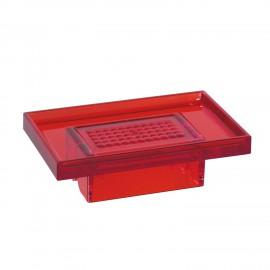 Porta sapone rosso per supporto a parete 5908 - 6208 - 6308.