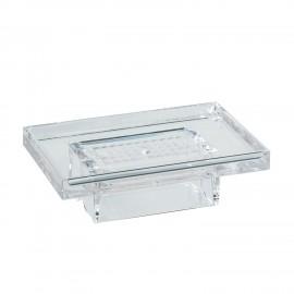 Porta sapone trasparente per supporto a parete 5908 - 6208 - 6308.