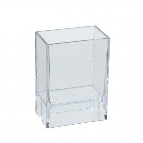 Bicchiere porta spazzolini da denti da muro Lem trasparente.