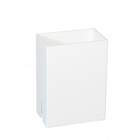 Bicchiere porta spazzolini da denti da muro Lem bianco.