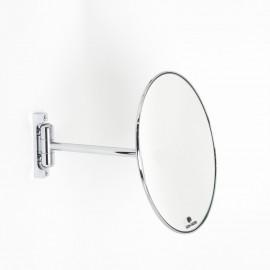 Specchio ingranditore x3  tondo monofacciale da muro cromoØ23. Con 1 braccio.