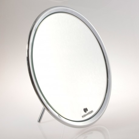 Specchio ingranditore bifacciale da tavolo (Ingrandimento x3) cromato ø23cm.