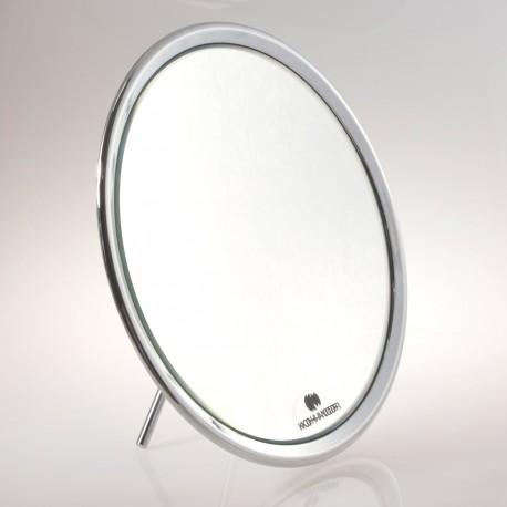 Specchio ingranditore bifacciale da tavolo (Ingrandimento x6) cromato ø23cm.