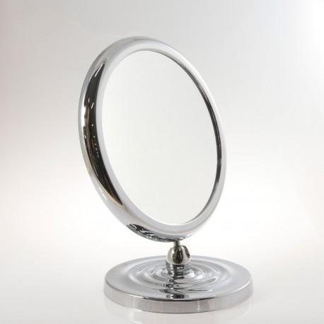 Specchio ingranditore bifacciale da tavolo (Ingrandimento x6) cromato ø18cm.