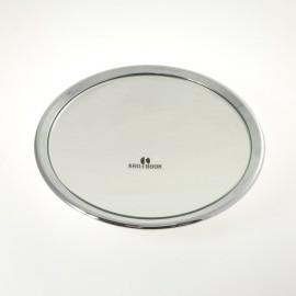 Specchio ingranditore cromato con 3 ventose. Ingrandimento x6 Ø23cm.