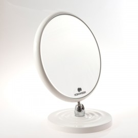 Specchio ingranditore bifacciale da tavolo (Ingrandimento x6) bianco ø18cm.