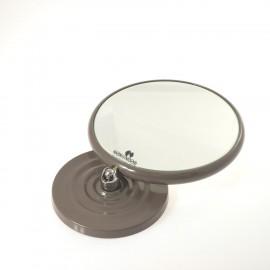 Specchio ingranditore bifacciale da tavolo (Ingrandimento x3) tortora ø18cm.