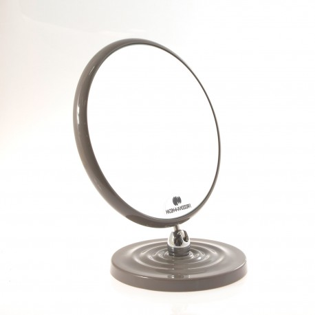 Specchio ingranditore bifacciale da tavolo (Ingrandimento x6) tortora ø18cm.
