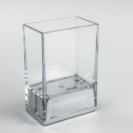Bicchieri porta spazzolini da denti da appoggio Lem trasparente.