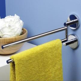 Porta asciugamani a snodo serie Tubina incollo o tassello.