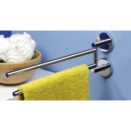 Porta asciugamani 64cm. serie Tubina incollo o tassello.