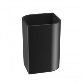 VELA Bicchiere porta spazzolini in ceramica. Colore nero.