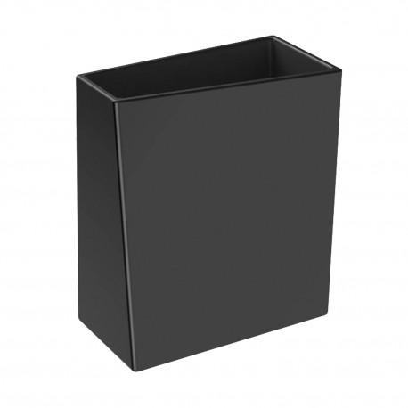 BATHMAN Bicchiere porta spazzolini in ceramica, di colore nero.