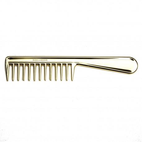 Pettine radone con manico. Perfetto per capelli bagnati e ricci. Colore oro.