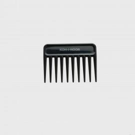Pettine radone piccolo. Perfetto per capelli bagnati e ricci. Colore Nero.
