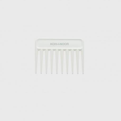 Pettine radone piccolo. Perfetto per capelli bagnati e ricci. Colore bianco.