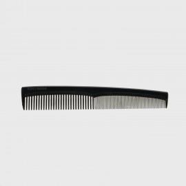 Pettine rado/fitto piccolo classico adatto a diverse capigliature. Colore nero.