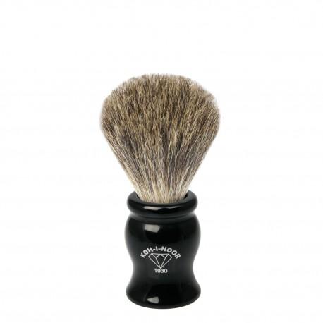 Pennello da barba in tasso grigio Ø19 nero.
