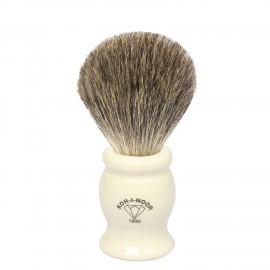 Pennello da barba in tasso grigio Ø21,5 avorio.