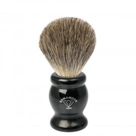 Pennello da barba in tasso grigio Ø21,5 nero.