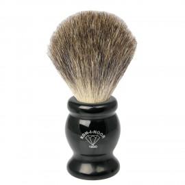 Pennello da barba in tasso grigio Ø22,5 nero.