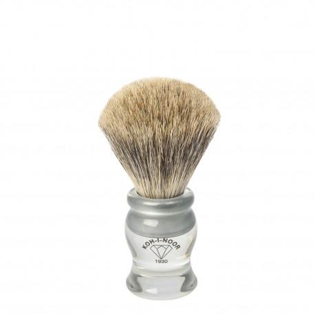 Pennello da barba in I° Ø19 trasparente.