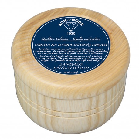 Crema da barba al Sandalo contenitore in legno Gr.140