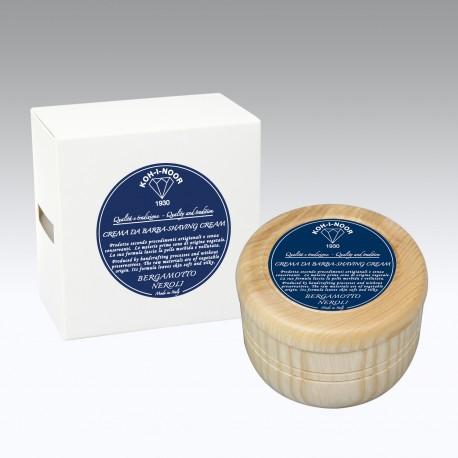 Crema da barba al Bergamotto contenitore in legno Gr.140