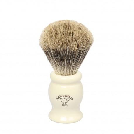 Pennello da barba in tasso I° ø21,5 manico colore Avorio