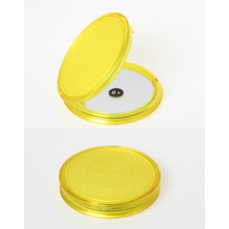 Specchio da borsetta con specchio ingrandimento x6. Ø8,5cm.