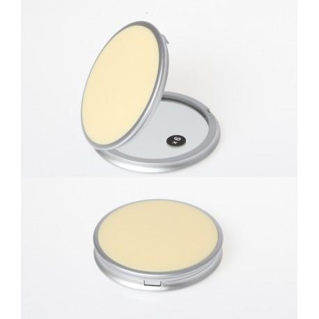 Specchio da borsetta con specchio ingrandimento x6. Ø8,5cm