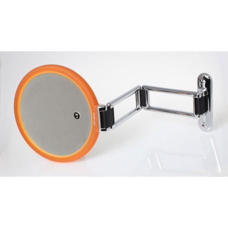 Specchio bifacciale da muro. Ø18cm. Ingrandimento x2.
