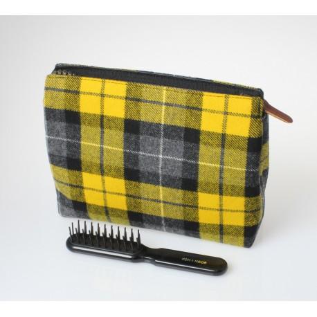 Porta trucco in tessuto di lana scozzese