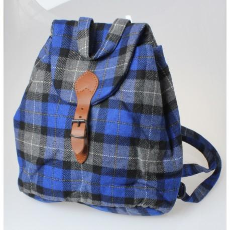 Zainetto in tessuto di lana scozzese