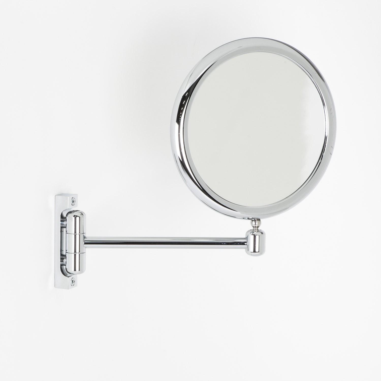 Specchio Bagno Con Braccio.Specchio Ingranditore X6 Tondo Bifacciale Da Muro Cromoo23