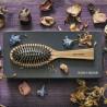 Spazzola in legno di Zebrano in scatola regalo. Pneumatica con picchi in legno