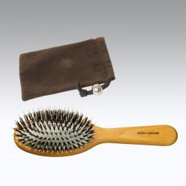 Sacchetto + spazzola grande pneumatica riccio misto Legno